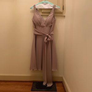 Azazie Diana dress in taupe